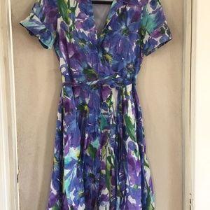 wrap floral dress